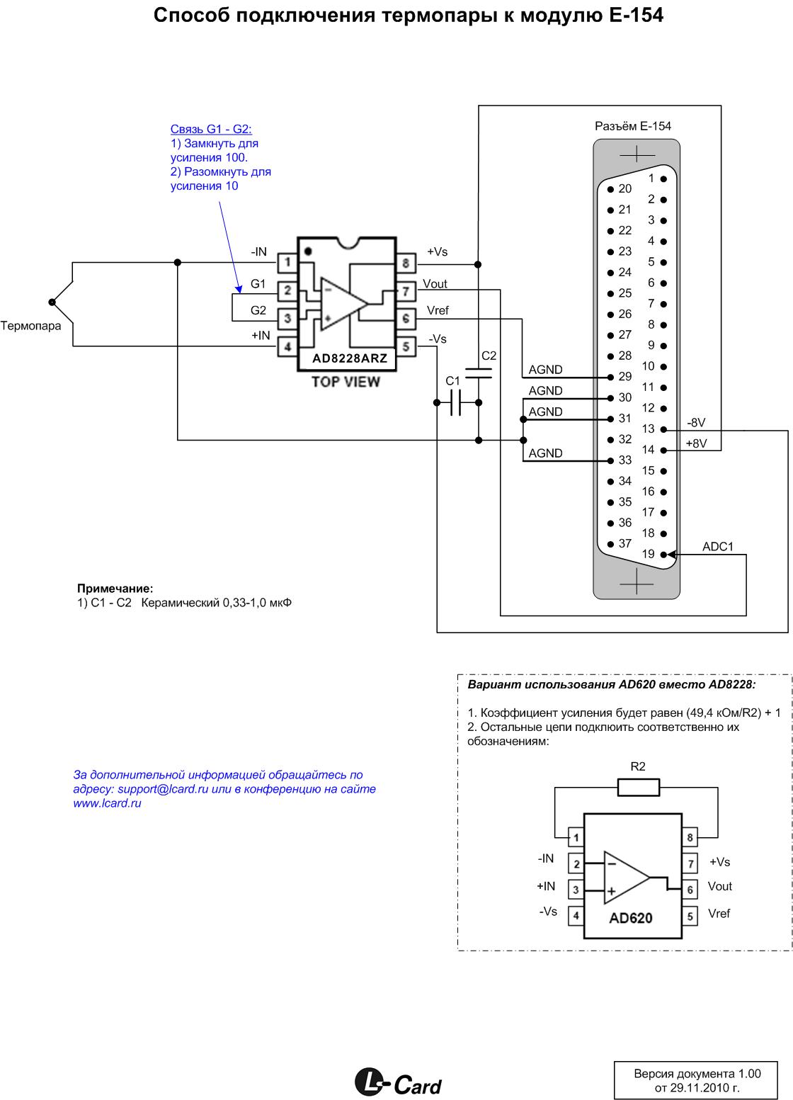 E-154 с термопарой
