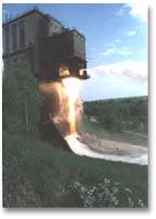 Огневые испытания реактивного     двигателя на стенде ОАО Моторостроитель