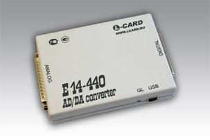 внешний модуль АЦП/ЦАП на шину USB E14-440