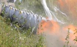 Исследование горения пропановоздушной смеси в трубе с кольцевыми перегородками