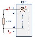 Датчик термометр сопротивления 4-проводный