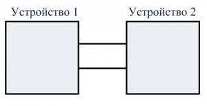 Схема двухпроводная