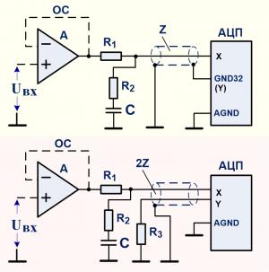 Буфер аналоговый активный для согласования с динамическим коммутатором входа АЦП
